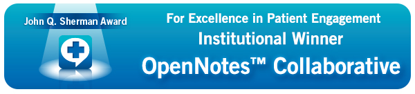 John Q. Sherman Award for Excellence in Patient Engagement Institutional Winner: OpenNotes(tm) Collaborative